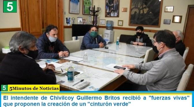 El intendente de Chivilcoy Guillermo Britos recibió a «fuerzas vivas» que proponen la creación de un «cinturón verde»