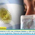 Este jueves sumaron 4.251 las víctimas fatales y 228.195 los infectados por coronavirus en Argentina. Reporte del ministerio de Salud