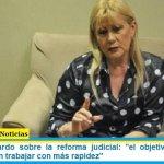 """Ministra Losardo sobre la reforma judicial: """"el objetivo es que los jueces puedan trabajar con más rapidez"""""""