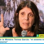 """Advertencia de la Ministra Teresa García: """"el sistema sanitario está a punto de colapsarse"""""""