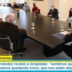 "Presidente Fernández recibió a terapistas: ""sentimos que no podemos más, que nos vamos quedando solos, que nos están dejando solos"""