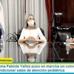 La Primera Dama Fabiola Yañez puso en marcha un convenio con Cruz Roja para acondicionar salas de atención pediátrica