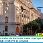 Legisladores porteños del Frente de Todos piden aplicar la ley de wifi gratuito para clubes de barrio de la ciudad