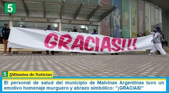 """El personal de salud del municipio de Malvinas Argentinas tuvo un emotivo homenaje murguero y abrazo simbólico: """"¡GRACIAS!"""""""