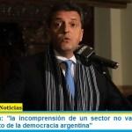 """Sergio Massa: """"la incomprensión de un sector no va a detener el funcionamiento de la democracia argentina"""""""