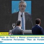 Menéndez, Wado de Pedro y Massa presenciaron desde Merlo el anuncio del Presidente Fernández: «Plan de Fortalecimiento de Seguridad PBA»