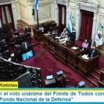 """El Senado con el voto unánime del Frente de Todos convirtió en ley la creación del """"Fondo Nacional de la Defensa"""""""