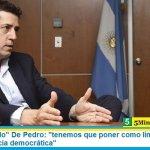 """Ministro """"Wado"""" De Pedro: """"tenemos que poner como límite el respeto a la convivencia democrática"""""""