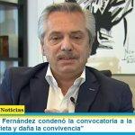"""El Presidente Fernández condenó la convocatoria a la casa de CFK: """"fomenta la grieta y daña la convivencia"""""""