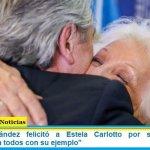 """Alberto Fernández felicitó a Estela Carlotto por sus 90 años: """"enorgullece a todos con su ejemplo"""""""