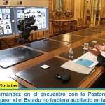 Presidente Fernández en el encuentro con la Pastoral Social: «La pobreza sería peor si el Estado no hubiera auxiliado en la pandemia»