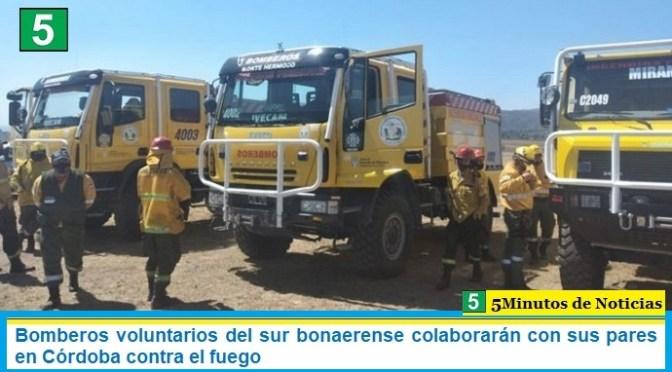 Bomberos voluntarios del sur bonaerense colaborarán con sus pares en Córdoba contra el fuego