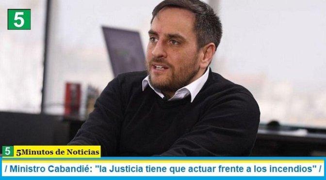 """Ministro Cabandié: """"la Justicia tiene que actuar frente a los incendios"""""""
