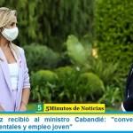"""Fabiola Yañez recibió al ministro Cabandié: """"conversaron sobre políticas ambientales y empleo joven"""""""
