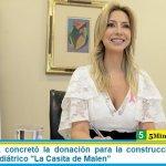 Fabiola Yañez concretó la donación para la construcción del centro oncológico pediátrico «La Casita de Malen»