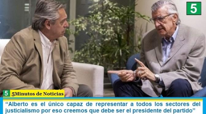 """""""Alberto es el único capaz de representar a todos los sectores del justicialismo por eso creemos que debe ser el presidente del partido"""""""