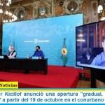 El Gobernador Kicillof anunció una apertura «gradual, intermitente y condicionada» a partir del 19 de octubre en el conurbano