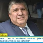 """Senador Mayans: """"en el Gobierno anterior (Macri) hubo una asociación ilícita que arruinó a la economía"""""""