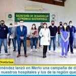 Gustavo Menéndez lanzó en Merlo una campaña de donación de plasma: «para nuestros hospitales y los de la región que lo necesiten»