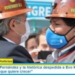 """El Presidente Fernández y la histórica despedida a Evo Morales: """"es la Patria Grande que quiere crecer"""""""