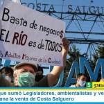 Una multitud que sumó Legisladores, ambientalistas y vecinos rechazó con una caravana la venta de Costa Salguero
