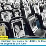 Esta semana continúan los juicios por delitos de lesa humanidad y concluye el de la Brigada de San Justo