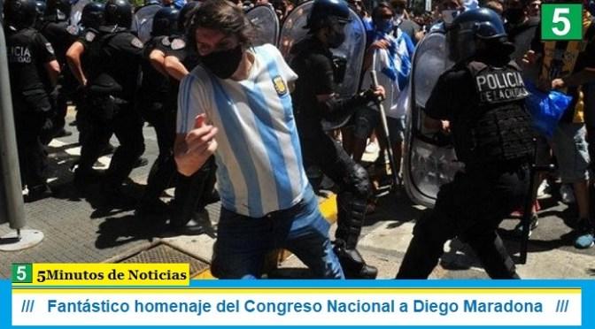 Desde el Ministerio Seguridad rechazaron el accionar de la Policía de Larreta que reprimió a hinchas en la despedida de Maradona
