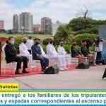 Agustín Rossi entregó a los familiares de los tripulantes del ARA San Juan las jinetas y espadas correspondientes al ascenso post mortem