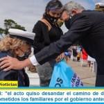 """Ministro Rossi: """"el acto quiso desandar el camino de destrato al que habían sido sometidos los familiares por el gobierno anterior"""""""
