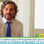 """Santiago Cafiero reafirmó que el Presupuesto 2021 que se convertirá en ley el próximo martes en la Cámara de Diputados """"no es de ajuste"""""""