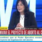 Vilma Ibarra confirmó que el Poder Ejecutivo enviará este mes al Congreso el proyecto de legalización del aborto