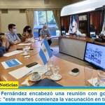 El presidente Fernández encabezó una reunión con gobernadores y gobernadoras: «este martes comienza la vacunación en todo el país»