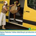 La Primera Dama Fabiola Yañez distribuyó productos navideños en hogares de niños
