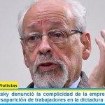 Horacio Verbitsky denunció la complicidad de la empresa Saiar en el secuestro y desaparición de trabajadores en la dictadura