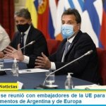 Sergio Massa se reunió con embajadores de la UE para afianzar lazos entre los parlamentos de Argentina y de Europa