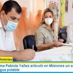 La Primera Dama Fabiola Yañez articuló en Misiones un acuerdo para la provisión de agua potable
