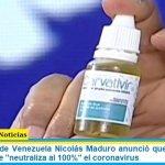 El presidente de Venezuela Nicolás Maduro anunció que su país halló un antiviral que «neutraliza al 100%» el coronavirus