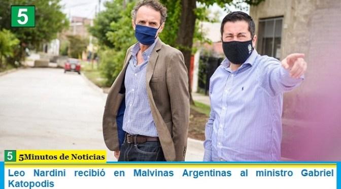 Leo Nardini recibió en Malvinas Argentinas al ministro Gabriel Katopodis