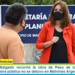 """María Luján Salgado recorrió la obra de Paso de los Patos: """"En pandemia, la obra pública no se detuvo en Malvinas Argentinas"""""""