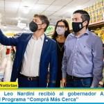 """El intendente Leo Nardini recibió al gobernador Axel Kicillof y presentaron el Programa """"Comprá Más Cerca"""""""