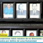 El Gobierno bonaerense retiró retratos de ex directores de la cárcel de Olmos condenados por delitos de Lesa Humanidad