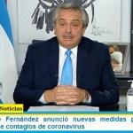 El Presidente Fernández anunció nuevas medidas para evitar la segunda ola de contagios de coronavirus