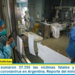Este viernes sumaron 57.350 las víctimas fatales y 2.497.881 los infectados por coronavirus en Argentina. Reporte del ministerio de Salud