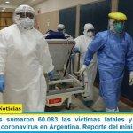 Este miércoles sumaron 60.083 las víctimas fatales y 2.769.552 los infectados por coronavirus en Argentina. Reporte del ministerio de Salud