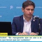 """Gobernador Kicillof: """"Es repugnante que se use a la Justicia para perjudicar a los que tienen que ser cuidados"""""""