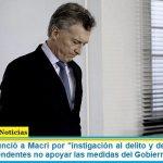 """Un fiscal denunció a Macri por """"instigación al delito y desobediencia"""", pidió a los intendentes no apoyar las medidas del Gobierno nacional"""
