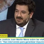 """Viceministro de Justicia Juan Martín Mena sobre las visitas de jueces y fiscales a Macri: """"Han intervenido para garantizar impunidad"""""""