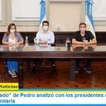 """El ministro """"Wado"""" de Pedro analizó con los presidentes de los bloques la situación sanitaria"""