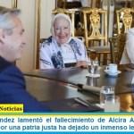 """Alberto Fernández lamentó el fallecimiento de Alcira Argumedo: """"Su compromiso por una patria justa ha dejado un inmenso legado"""""""