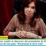 """Cristina Kirchner exaltó el discurso del presidente de Estados Unidos ante el Congreso de ese país: """"Sorpresas te da la vida"""""""
